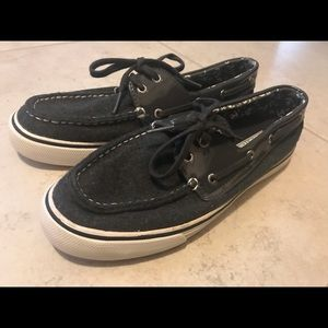 Sperry Top Sider boat shoes.